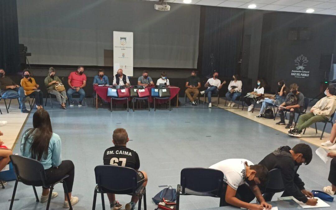 Reunión del consejo de Niñas, niños y adolescentes de La Oliva